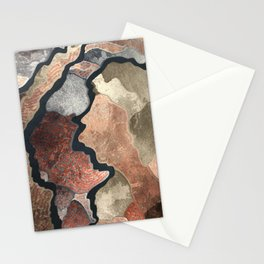 Colorful Abstract Shapes Stationery Cards