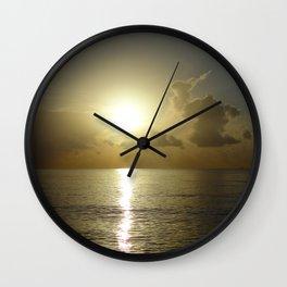 seaside sunrise Wall Clock