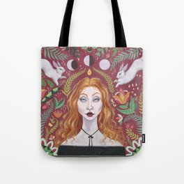 The Red Lady Tote Bag