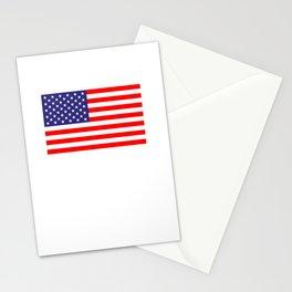 91101 - USA flag Stationery Cards