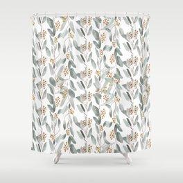 Eucalyptus stripes Shower Curtain
