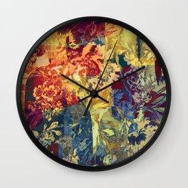 hide and seek floral 2 Wall Clock