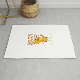 Cute & Funny All You Knead Is Love Cat Kneading Rug