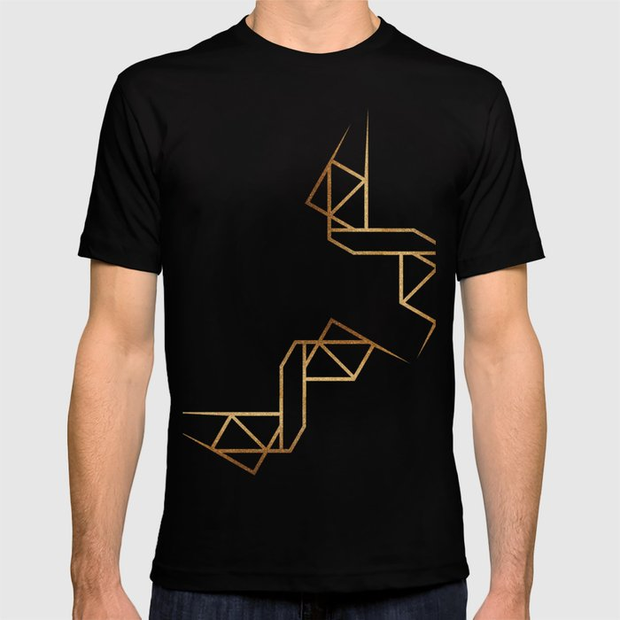 industrial golden glitters T-shirt