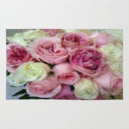 Gorgeous light pink and mauve wedding bouquet Rug