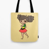 jamaica Tote Bags featuring Jamaica 2 by Cat in the Box