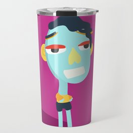Standing Blue Travel Mug
