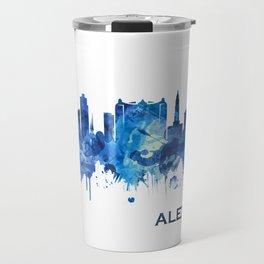 Alexandria Egypt Skyline Blue Travel Mug