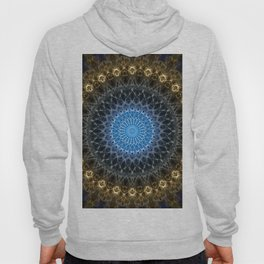 Golden mandala with blue star Hoody