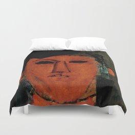 """Amedeo Modigliani """"Portrait de Picasso"""" Duvet Cover"""