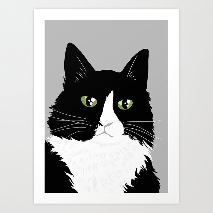 Henri the Existential Cat Art Print