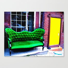 The first thing I did was to sit down on the sofa.  Canvas Print