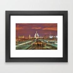 St Pauls From The Bridge Framed Art Print