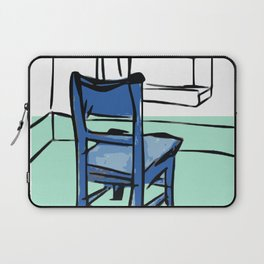 Blue chair drawing Laptop Sleeve