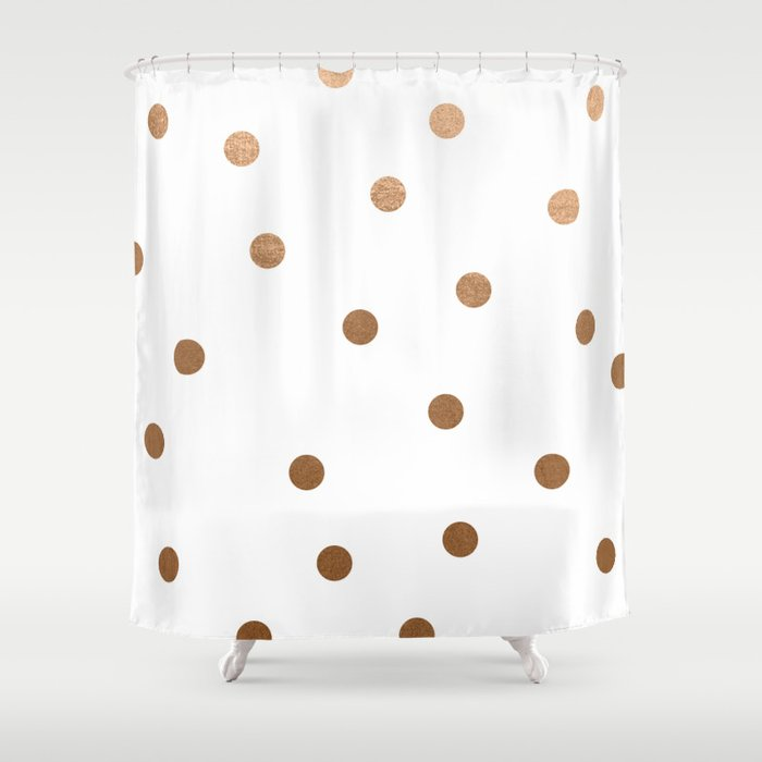 GOLD DOT Shower Curtain by madisynnicole | Society6