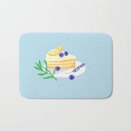 Lemon Blueberry Cake/ Lavender/Summer vibe Bath Mat