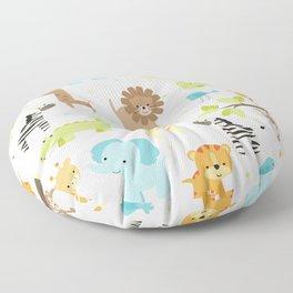Jungle Animals Floor Pillow