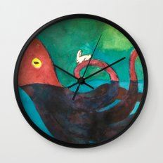 Octopus and Rabbit Wall Clock