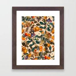Vintage Fruit Pattern IX Framed Art Print