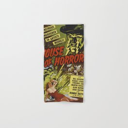 House of Horrors, vintage horror movie poster Hand & Bath Towel