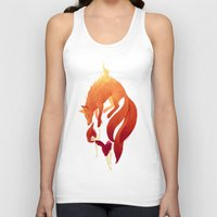 freeminds Tank Tops featuring Fire Fox by Freeminds