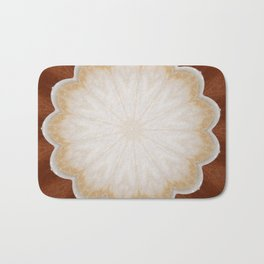 Cafe con Leche Coffee Mandala Abstract Bath Mat