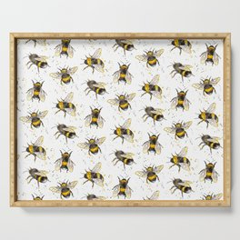 Fluffy Bumblebees (Pattern) Serving Tray