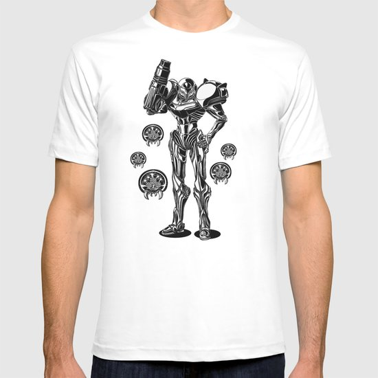 Metroid - Samus Aran Line Art Vector Character Poster T-shirt