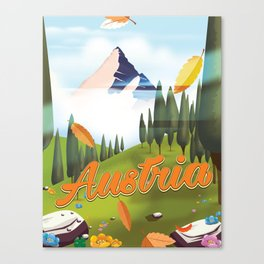 Austrian Landscape travel poster, Canvas Print