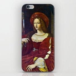 Joanna of Aragon by Raphael iPhone Skin