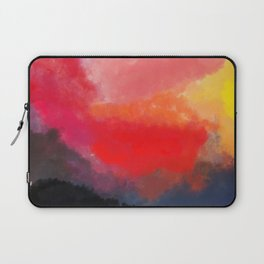 Red, Black and Yellow Mosaic Laptop Sleeve