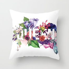 Queen Floral Throw Pillow
