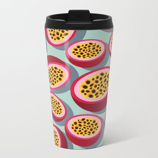 Passion Fruit Metal Travel Mug