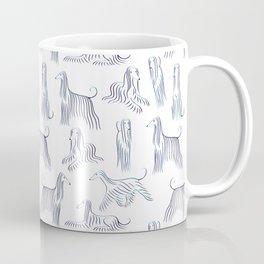 Afghan Hounds Pattern Coffee Mug