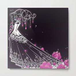 Lotus Lace Dress Metal Print