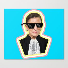 """The Notorious RBG Says """"Deal With It"""" Canvas Print"""