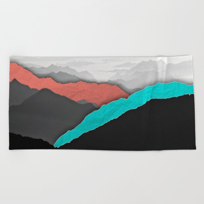 Mountain Highlights Beach Towel