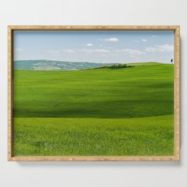 Tuscany Landscape with Hills Serving Tray