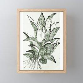 Agave, Kiss of Mezcal the Spirit of Mexico Framed Mini Art Print