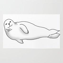 Chubby Seal Illustration, Original (Inktober Day 17:Swollen) Rug