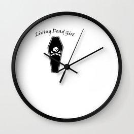 Living Dead Girl   Zombie Girl Dead Inside  Wall Clock