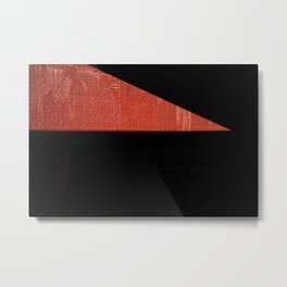 red triangle shape in an abstract sunlight onto a street wall Metal Print