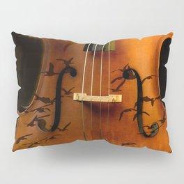 Cello bird music Pillow Sham