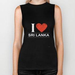 I Love Sri Lanka Biker Tank