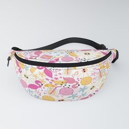 Flamingo Beach Party Fanny Pack