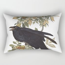 Raven, Birds of America, Audubon Plate 101 Rectangular Pillow