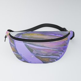 NAUTILUS CONCH SEA SHELL PURPLE IMPRESSIONS Fanny Pack