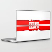 swag Laptop & iPad Skins featuring Red Swag by Azeez Olayinka Gloriousclick
