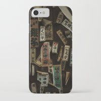 stickers iPhone & iPod Cases featuring Kyoto Name Stickers 1 by Jason Halayko