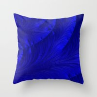 renaissance Throw Pillows featuring Renaissance Blue by Charma Rose
